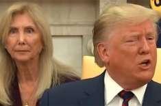 ڈونلڈ ٹرمپ کے پیچھے بیٹھی خاتون وائرل کیوں ہو گئی؟