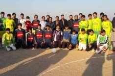 ضلع خیبر باڑہ اکاخیل میں چیمپئن لیگ فٹبال ٹورنمنٹ کاآغاز ہو گیا
