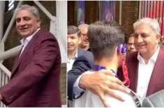 آرمی چیف اور آصف غفور کی پاکستان بمقابلہ جنوبی افریقہ کے میچ کے دوران ..