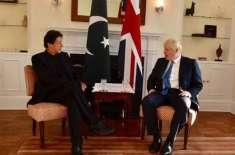وزیراعظم عمرا ن خان سے برطانوی ہم منصب بورس جانسن سے ملاقات
