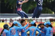 بھارت اور انگلینڈ کی ویمن ٹیموں کے درمیان پہلا ون ڈے انٹرنیشنل کرکٹ ..