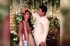 فواد خان کی اپنی بیوی کے بالوں کو درست کر تے ہوئے ویڈیو وائرل
