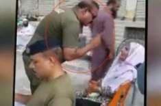 بزرگ خاتون کے ساتھ بد تمیزی کرنے والا پولیس اہلکار محمد آصف نوکری سے ..