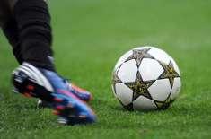 قومی جونیئر فٹ بال ٹیم کا نیشنل چیلنج فٹ بال کپ کی تیاری کے سلسلہ میں ..