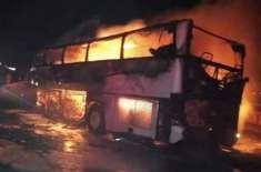 مدینہ منورہ کے قریب بس حادثے میں 35 عمرہ زائرین جاں بحق، چار زخمی