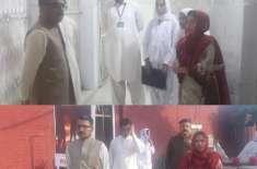 ڈپٹی کمشنرجہلم کارورل ہیلتھ سینٹر دینہ کا اچانک دورہ