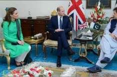 برطانوی شاہی جوڑا وزیراعظم ہاؤس پہنچ گیا، عمران خان نے استقبال کیا