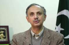 وفاقی وزیر توانائی عمر ایوب خان اور معاون خصوصی برائے پٹرولیم ندیم ..