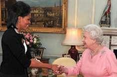 میشیل اوباما نے ملکہ الزبتھ کے گن گا کر برطانوی مجمع کا دل جیت لیا