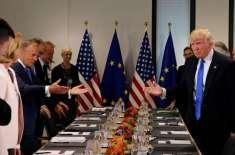 یورپی یونین ٹرمپ کے ساتھ تجارتی مذاکرات میں جلد بازی نہ کرئے . فرانس