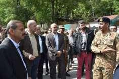 غیرملکی سفیروں کا لائن آف کنٹرول کا دورہ'ڈائریکٹرجنرل آئی ایس پی آرکی ..