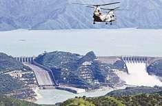 تربیلا ڈیم میں پانی کی سطح اضافہ کے بعد 1547.05 فٹ ہو گئی، بجلی کی پیداوار ..
