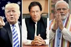 امریکی صدر ڈونلڈ ٹرمپ نے مسئلہ کشمیر پر ایک مرتبہ پھر ثالثی کی پیشکش ..