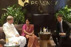 سشما سوراج نے شاہ محمود قریشی سے گلا کیا ہے کہ پاکستان کبھی کبھی کڑوا ..