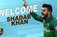پاکستانی کرکٹر شاداب خان کا سرے کاﺅنٹی کیساتھ معاہدہ