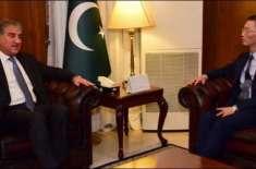 چینی سفیر کی وزیر خارجہ شاہ محمود قریشی کی ملاقات ،
