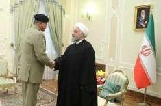 چیف آف آرمی سٹاف کی ایرانی صدر حسن روحانی سے ملاقات