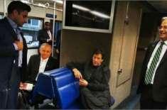 وزیراعظم عمران خان کا تاریخی دورہ امریکہ مکمل ، عوامی ٹرین پر سفر کیا