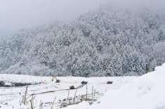 وادی کوہسار مری اور آزاد کشمیر کے مختلف علاقوں میں برف باری ،ْ وادی ..