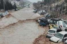 ایران میں طوفانی بارشوں اور سیلاب سے ہلاکتیں 22ہوگئیں، 74 زخمی