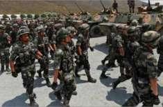 چین نے پاک بھارت سرحد پر فوجی دستے تعینات کر دیے