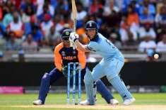 ورلڈ کپ ، میزبان انگلینڈ نے بھارت کو جیت کے لیے338 رنز کا ہدف دیدیا