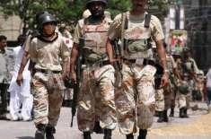 پاکستان رینجرز سندھ نے شہر کے مختلف علاقوں میں کارروائی کرتے ہوئے 15ملزمان ..