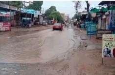 وہاڑی: شہر کی مختلف سڑکیں بارشوں کے باعث ٹوٹ پھوٹ کا شکار ہو گئیں