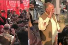 طلبہ یکجہتی مارچ میں مشال خان کے والد کا پرجوش نعروں سے استقبال