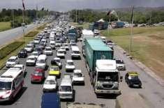 سعودی ولی عہد کی آمد ،اسلام آباد اور راولپنڈی میں ہیوی ٹریفک کا داخلہ ..