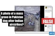 بھارت نے بالاکوٹ میں مارے گئے 350 دہشت گردوں کی قبروں کی جعلی تصاویر ..