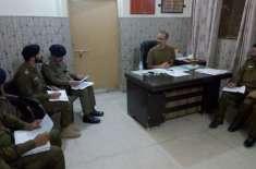 ڈی پی او ننکانہ اسماعیل الرحمان کھاڑک نے تھانہ بڑا گھر میں کرائم میٹنگ ..