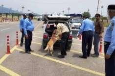 اسلام آباد میں سیکیورٹی ہائی الرٹ'پولیس کمانڈوزتعینات