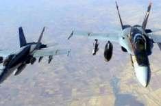 یمن کے علاقے صعدہ میں اتحادی طیاروں کے ہاتھوں حوثیوں کا عسکری کیمپ ..