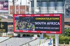 جنوبی افریقہ نے کیپ ٹاﺅن ٹیسٹ اور سیریز اپنے نام کرلی