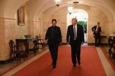 وزیراعظم عمران خان نے امریکی صدر کو دورہ پاکستان کی باقاعدہ دعوت دے ..
