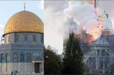 مسجد اقصیٰ میں آتشزدگی، عمارت معجزانہ طور پر محفوظ رہی