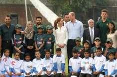 برطانوی شاہی جوڑے کا نیشنل کرکٹ اکیڈمی کا دورہ،کرکٹ بھی کھیلی،شہزادہ ..