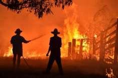 آسٹریلیا ، آتشزدگی سے متاثرہ علاقوں میں اپلوکلیپٹیک طوفان ، دن میں ..