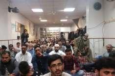 جرمنی کے دارلحکومت برلن میں مقامی مسجد میں پورپ میں مقیم مسلمانوں کو ..