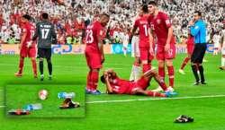 ایشین کپ فٹبال، عرب امارات میں قطری ٹیم پر جوتوں کی بارش