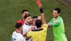 مایہ ناز فٹبالر لیونل میسی پر 3 ماہ کیلئے پابندی عائد
