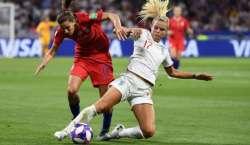 ویمنز ورلڈ کپ فٹ بال ٹورنامنٹ، انگلینڈ اور سویڈن کی ٹیمیں کل تیسری ..