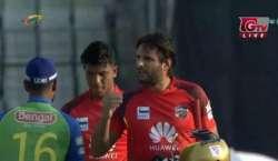 """بنگلہ دیش پریمیئر لیگ: شاہد آفریدی نے دھواں دھار اننگز کھیل کر """"گزرے .."""