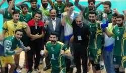 ایشین سینئر مینز والی بال چیمپئن شپ، پاکستان نے بھارت کو ہرا دیا