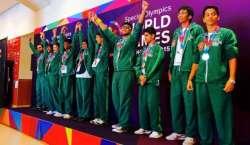 پاکستانی ایتھلیٹس نے سپیشل اولمپکس گیمزمیں61میڈلز جیت کر قوم کا سر ..