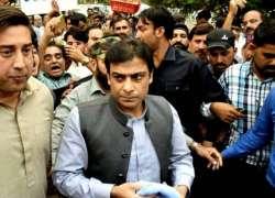 پنجاب اسمبلی کے اجلاس میں شرکت کے لیے حمزہ شہباز اور سلمان رفیق کے پروڈیکشن ..