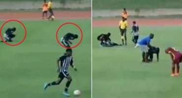آسمانی بجلی گرنے سے فٹ بال کھیلتے دو کھلاڑی زخمی ہو گئے