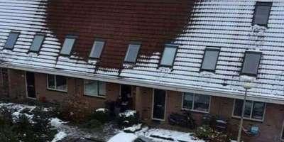 گھر کی چھت پر برف نہ ہونے کی وجہ سے پولیس کےچھاپے۔ منشیات کے  کاشت کار ..