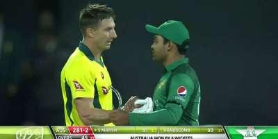 پہلا و ن ڈے،آسٹریلیا نے پاکستان کو8 وکٹوں سے شکست دیدی